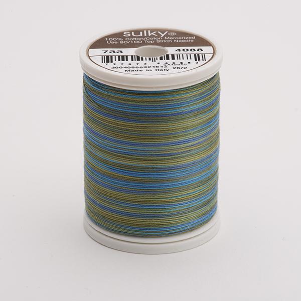 SULKY COTTON 30, 450m King Spulen -  Farbe 4088 Eucalyptus multicolour