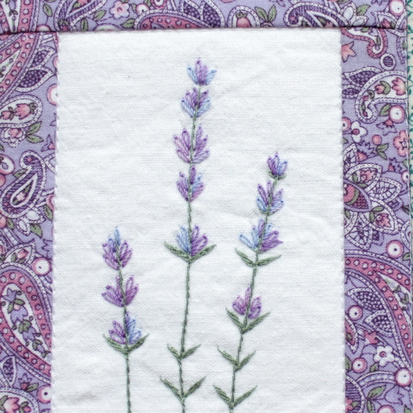 Bild mit Lavendel