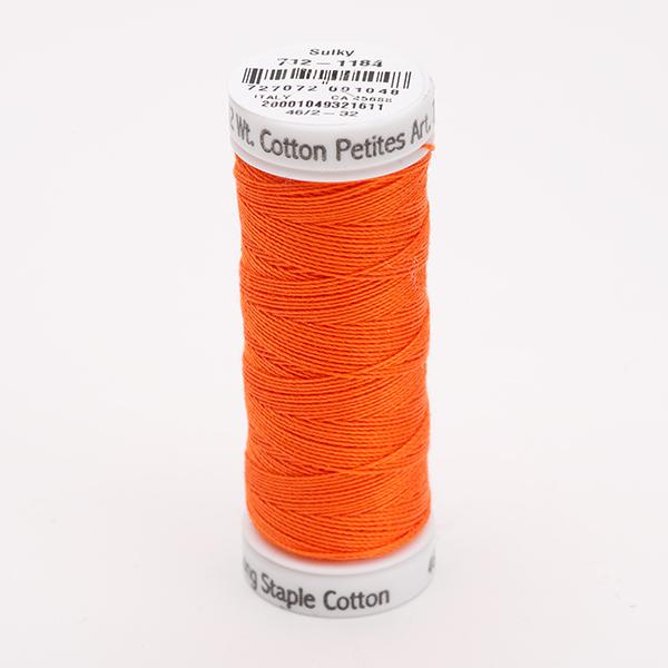 SULKY COTTON PETITES 12, 46m Snap Spulen -  Farbe 1184 Orange Red