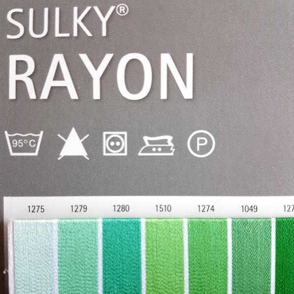 RAYON Thread Chart