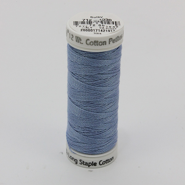 SULKY COTTON PETITES 12, 46m Snap Spulen -  Farbe 1030 Periwinkle
