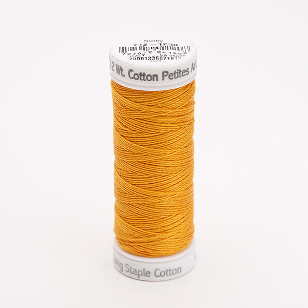 SULKY COTTON PETITES 12, 46m Snap Spulen -  Farbe 1238 Orange Sunrise