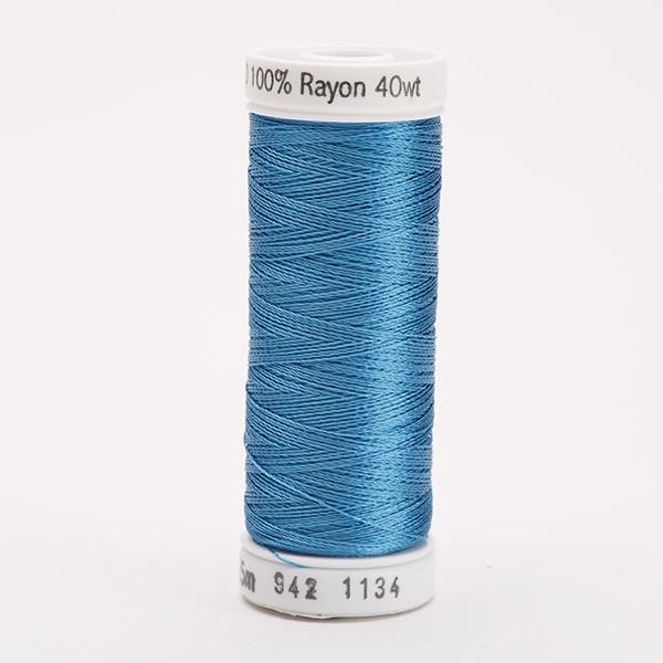 SULKY RAYON 40 farbig, 225m Snap Spulen -  Farbe 1134 Peacock Blue