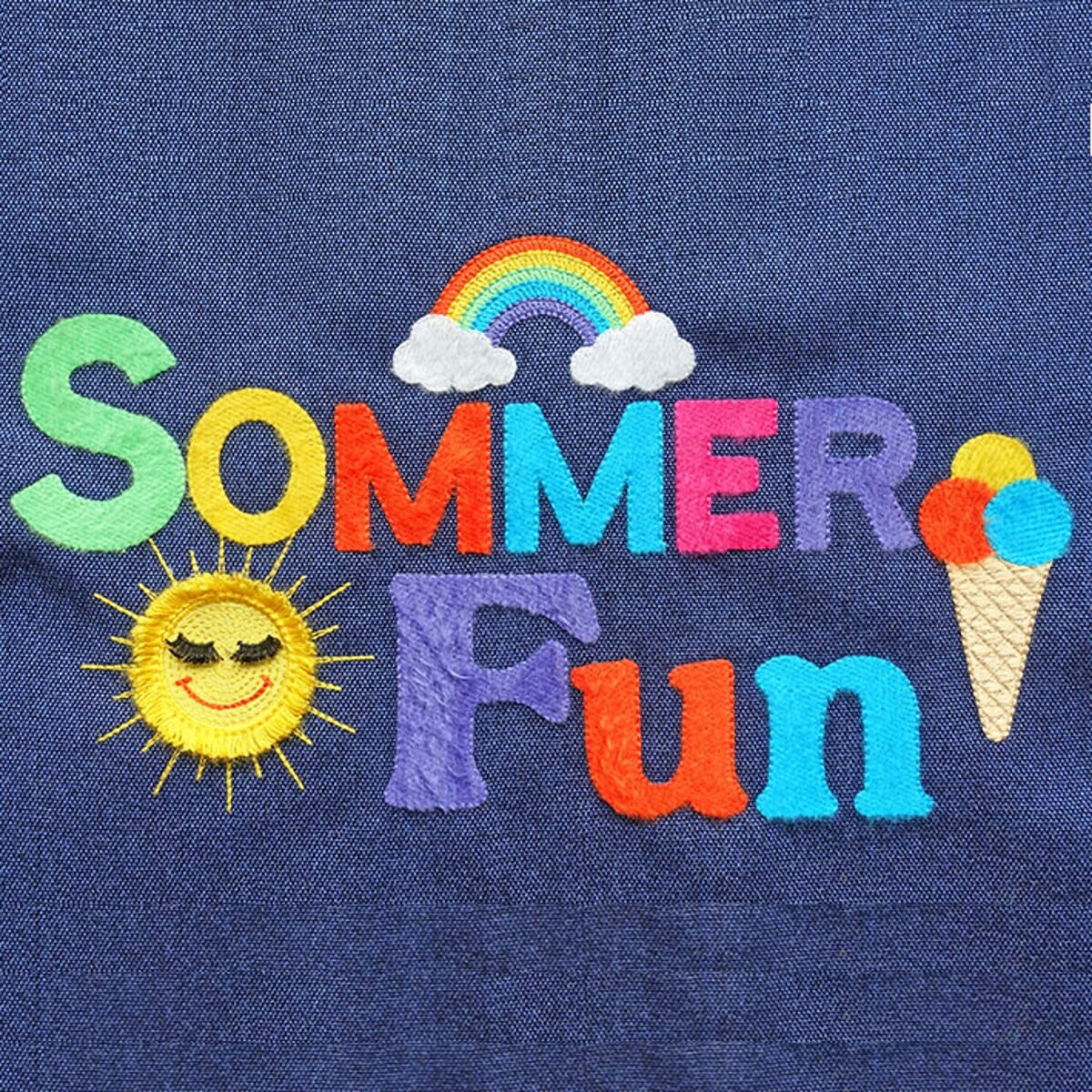 "Stickdesign Sommer Fun ""Filaine brushed"" (Download)"