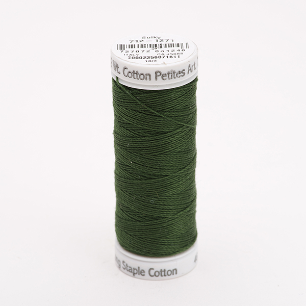 SULKY COTTON PETITES 12, 46m Snap Spulen -  Farbe 1271 Evergreen