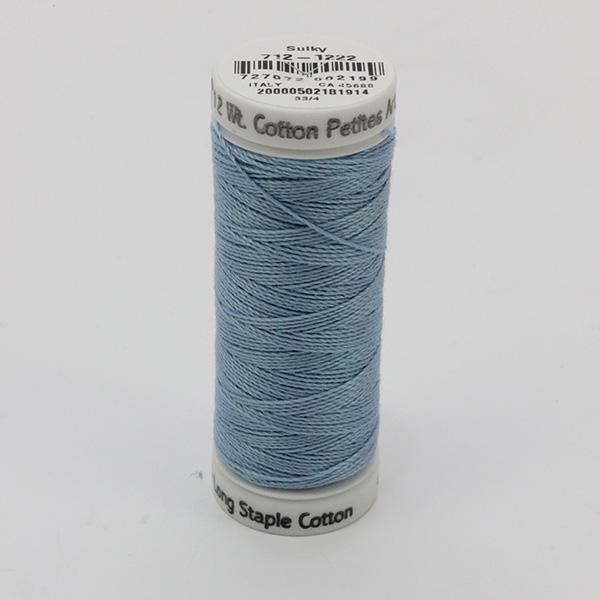 SULKY COTTON PETITES 12, 46m Snap Spulen -  Farbe 1222 Lt. Baby Blue