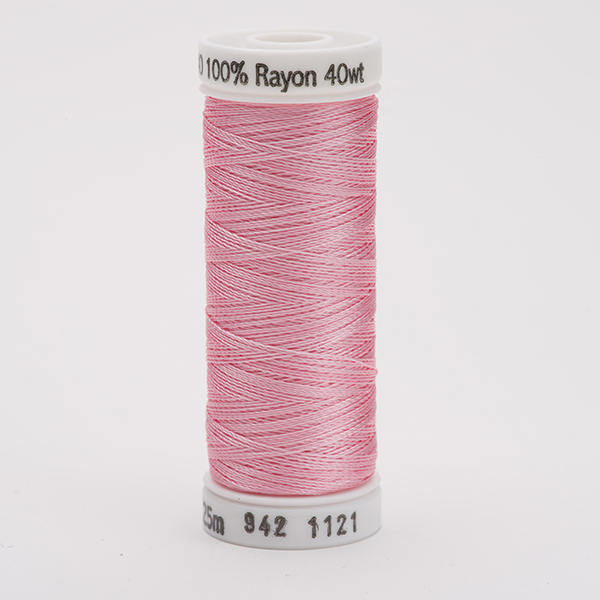 SULKY RAYON 40 farbig, 225m Snap Spulen -  Farbe 1121 Pink