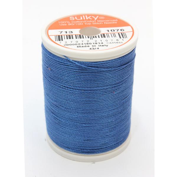 SULKY COTTON 12, 270m King Spulen -  Farbe 1076 Royal Blue