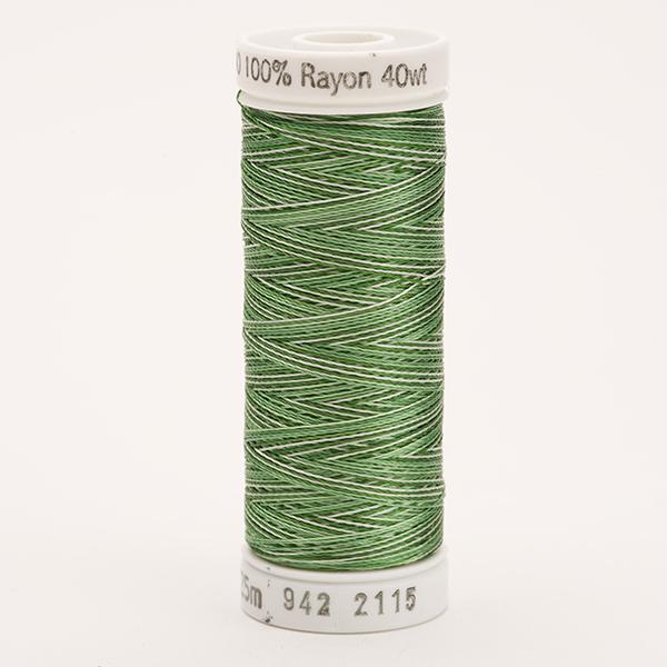 SULKY RAYON 40 ombre/multicolor, 225m Snap Spulen -  Farbe 2115 Vari-Pine Greens