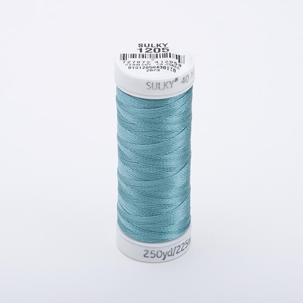 SULKY RAYON 40 farbig, 225m Snap Spulen -  Farbe 1205 Med. Jade
