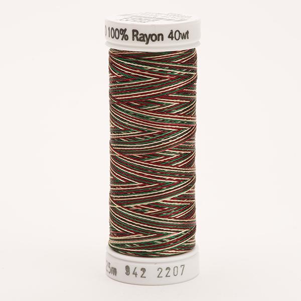SULKY RAYON 40 ombre/multicolor, 225m Snap Spulen -  Farbe 2207 Green/Burgundy/Tan