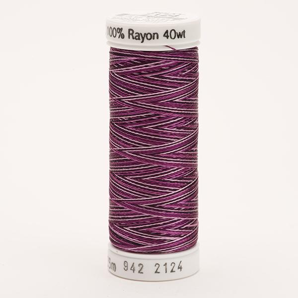 SULKY RAYON 40 ombre/multicolor, 225m Snap Spulen -  Farbe 2124 Vari-Purples