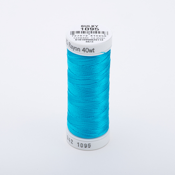 SULKY RAYON 40 farbig, 225m Snap Spulen -  Farbe 1095 Turquoise