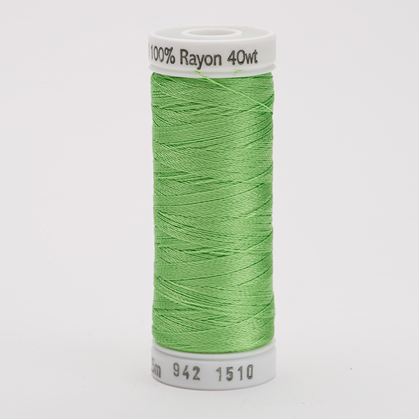 SULKY RAYON 40 farbig, 225m Snap Spulen -  Farbe 1510 Lime Green