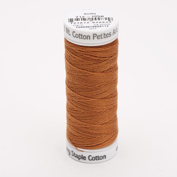 SULKY COTTON PETITES 12, 46m Snap Spulen -  Farbe 1056 Med. Tawny Tan