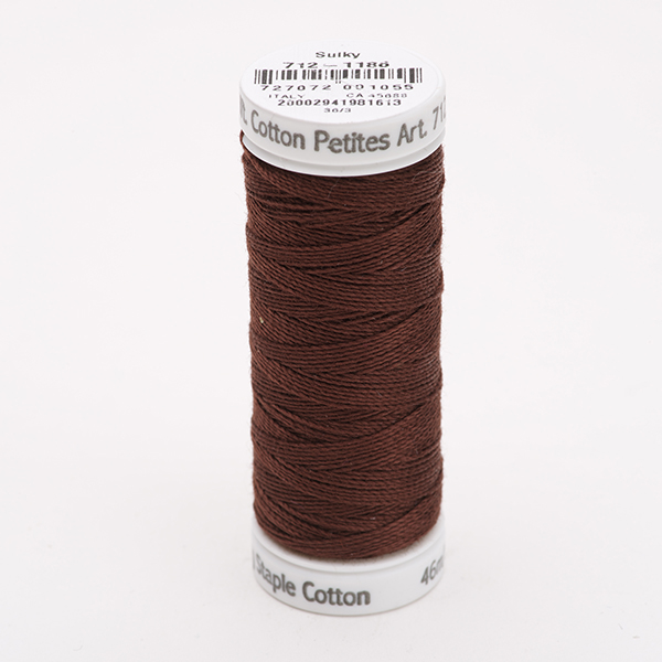 SULKY COTTON PETITES 12, 46m Snap Spulen -  Farbe 1186 Sable Brown