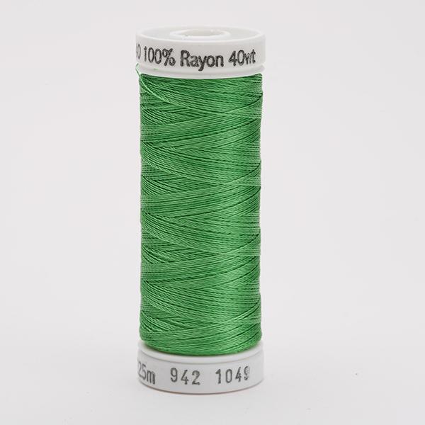 SULKY RAYON 40 farbig, 225m Snap Spulen -  Farbe 1049 Grass Green