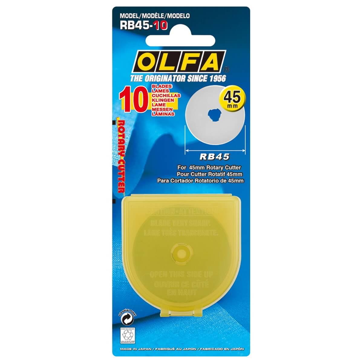 OLFA® RB45-10 45mm - Ersatzklingen Rollschneider 10 Stk