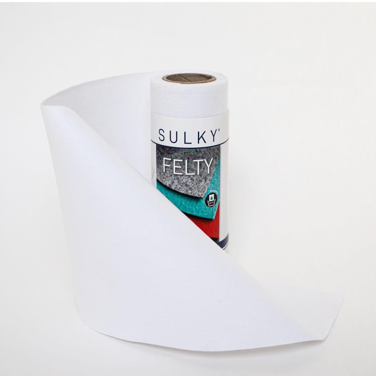 SULKY FELTY, waschbar, 25cm x 3m - Farbe 401 weiß
