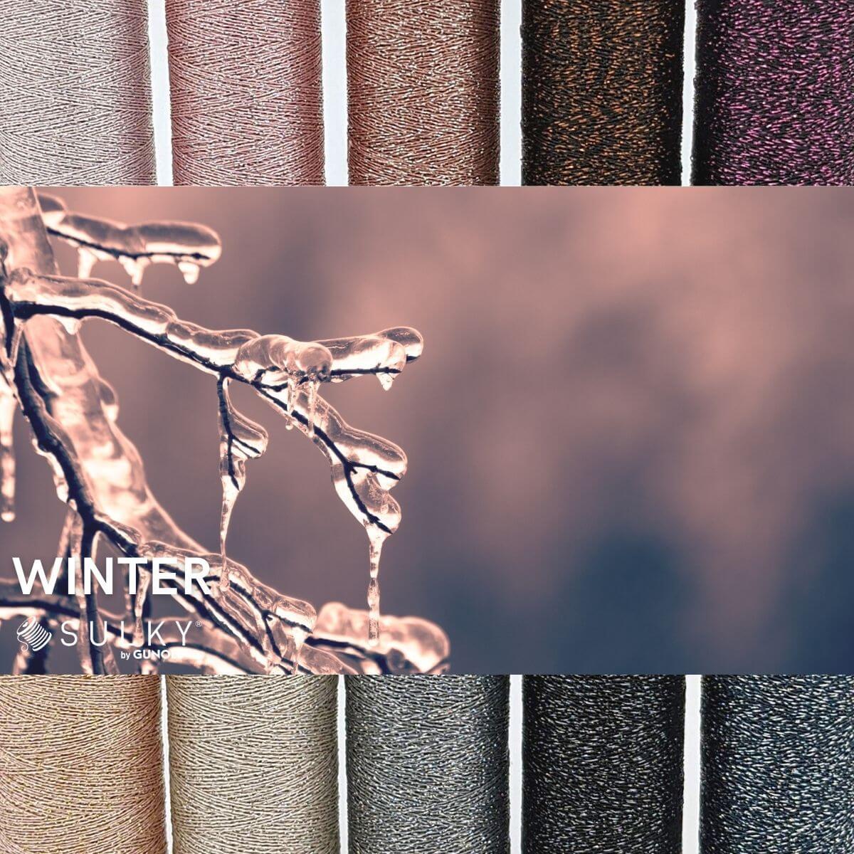 SULKY POLY SPARKLE 30 - Winter (10 x 265m Snap Spulen)