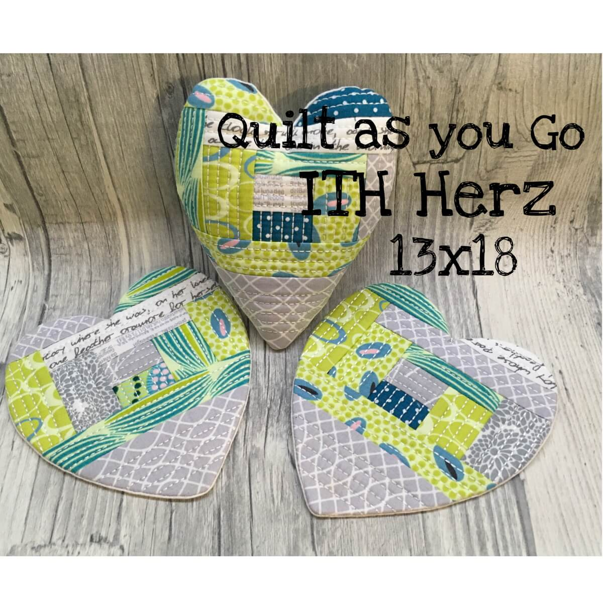 """ITH Herz """"Quilt as you go"""" Freebie"""