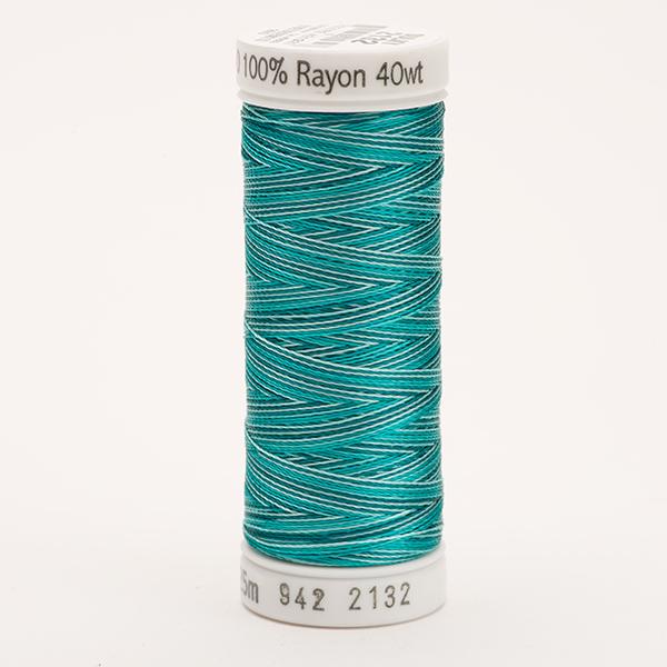 SULKY RAYON 40 ombre/multicolor, 225m Snap Spulen -  Farbe 2132 Vari-Aqua Teals
