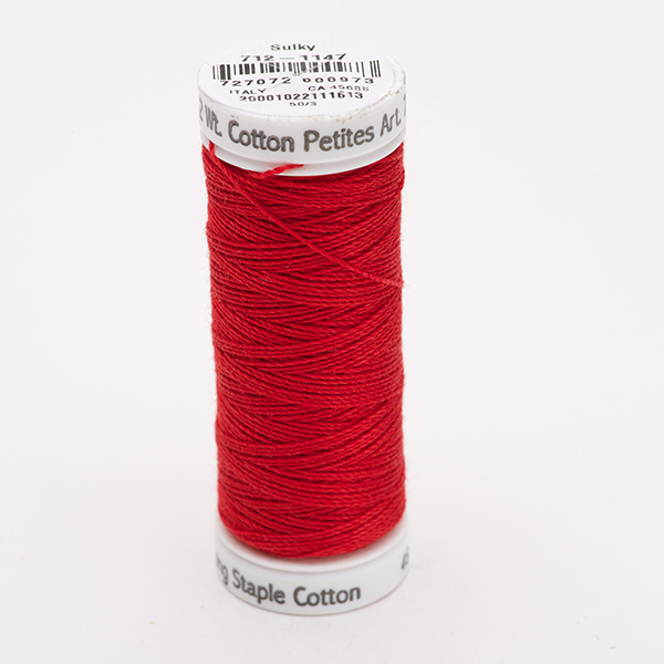 SULKY COTTON PETITES 12, 46m Snap Spulen -  Farbe 1147 Christmas Red