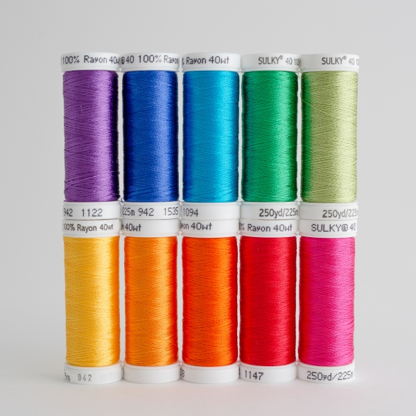 SULKY RAYON 40 - COLOUR WHEEL (10 x 225m Snap Spulen)