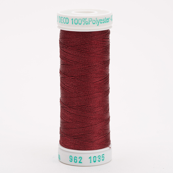 SULKY POLY DECO 40, 225m Snap Spulen -  Farbe 1035 Dk. Burgundy