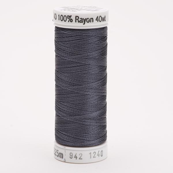 SULKY RAYON 40 farbig, 225m Snap Spulen -  Farbe 1240 Smokey Grey