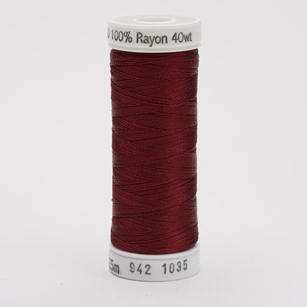 SULKY RAYON 40 farbig, 225m Snap Spulen -  Farbe 1035 Dk. Burgundy