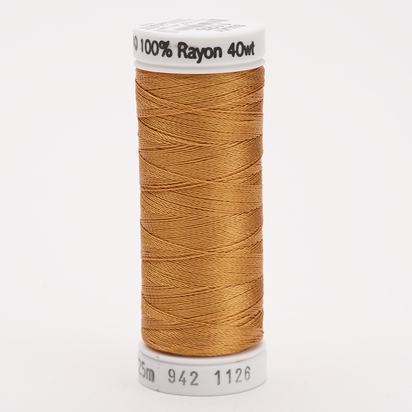 SULKY RAYON 40 farbig, 225m Snap Spulen -  Farbe 1126 Tan