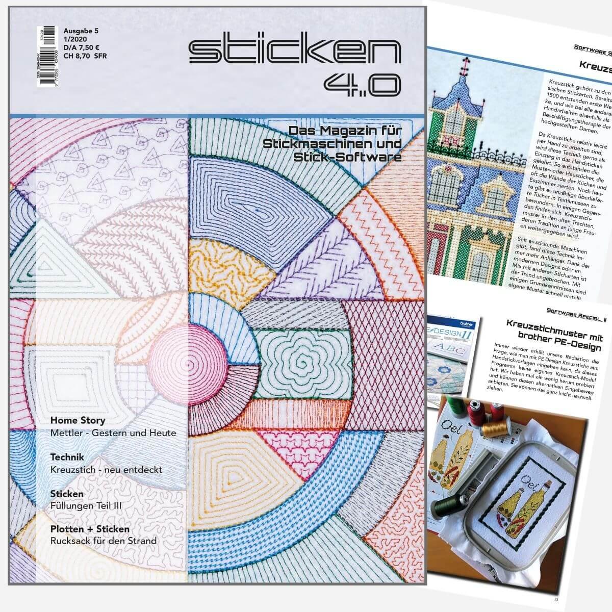 Sticken 4.0 - Das Magazin für Stickmaschinen und Software  - Ausgabe  Jan. 2020
