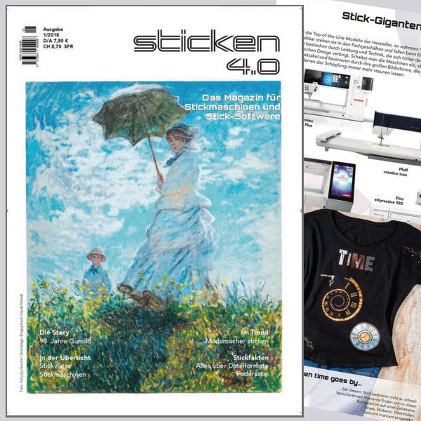 Sticken 4.0 - Das Magazin für Stickmaschinen und Software  - Ausgabe  Jan. 2018