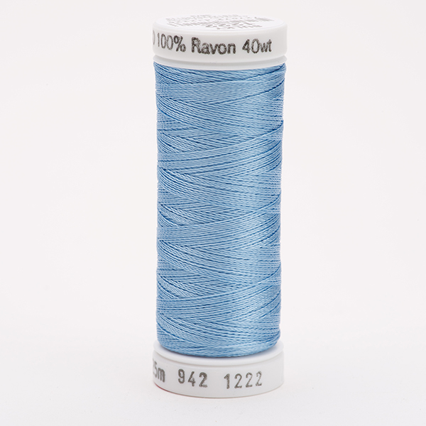 SULKY RAYON 40 farbig, 225m Snap Spulen -  Farbe 1222 Lt. Baby Blue