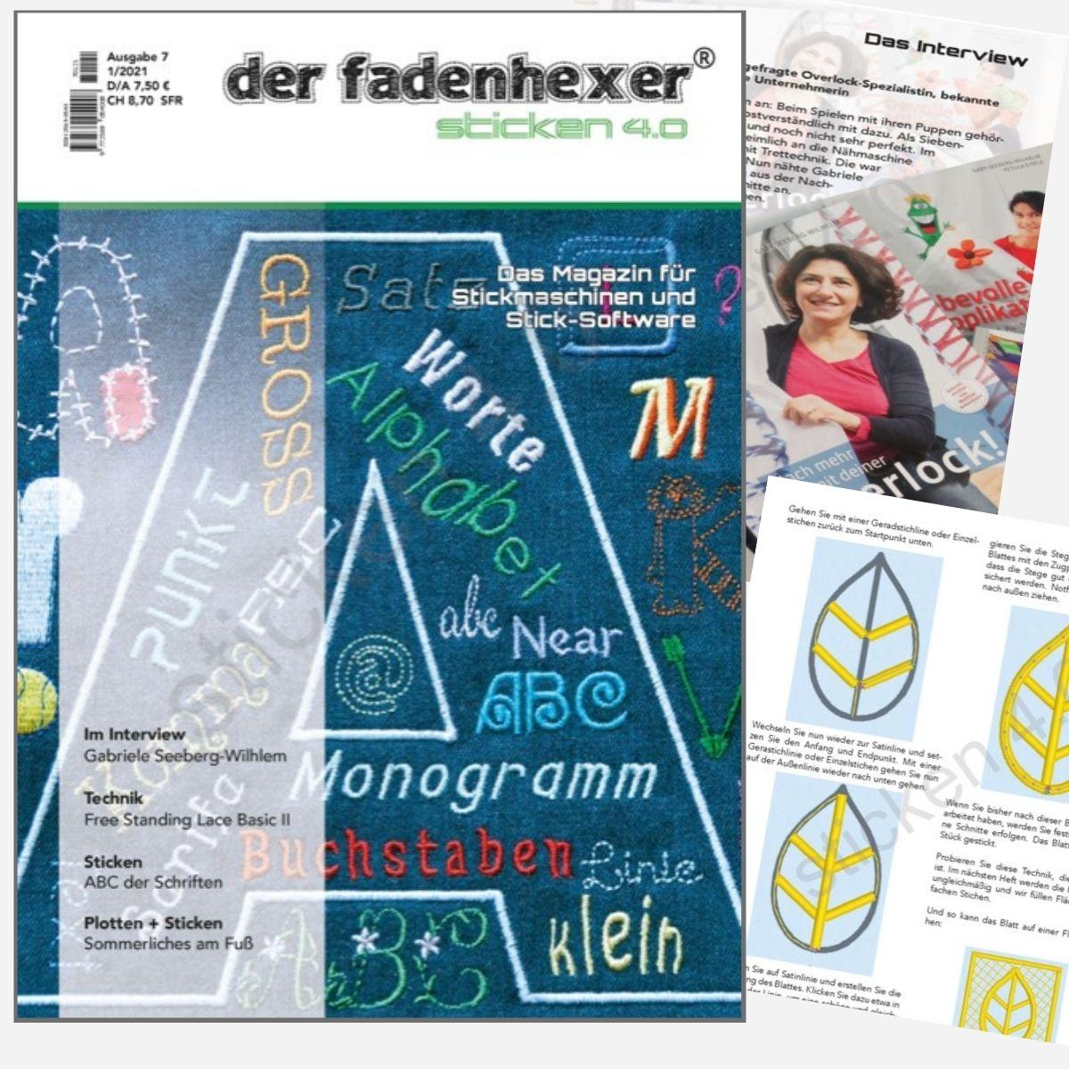 Sticken 4.0 - Das Magazin für Stickmaschinen und Software  - Ausgabe  Feb. 2021