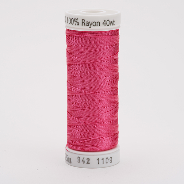 SULKY RAYON 40 farbig, 225m Snap Spulen -  Farbe 1109 Hot Pink
