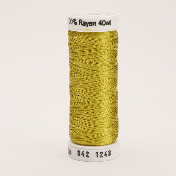 SULKY RAYON 40 farbig, 225m Snap Spulen -  Farbe 1243 Spring Moss