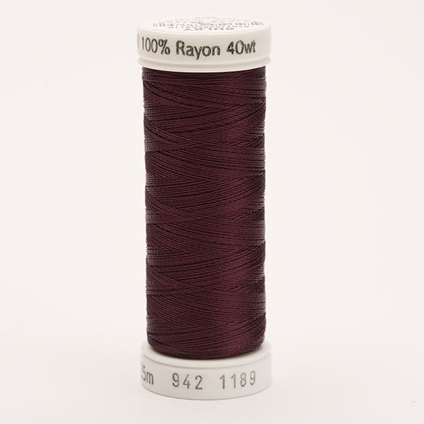SULKY RAYON 40 farbig, 225m Snap Spulen -  Farbe 1189 Dk. Chestnut