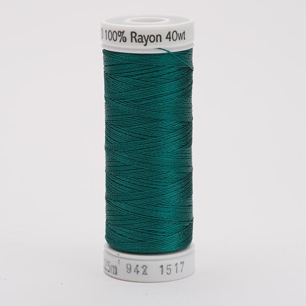 SULKY RAYON 40 farbig, 225m Snap Spulen -  Farbe 1517 Coachman Green