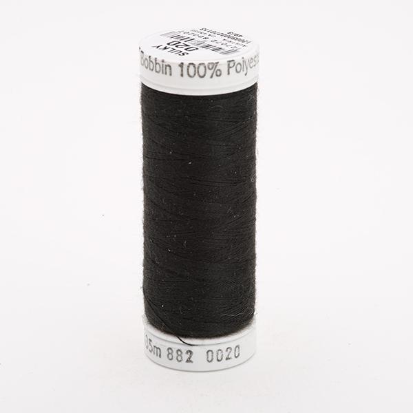 SULKY BOBBIN schwarz, 435m Snap Spulen - Farbe 0020 Black