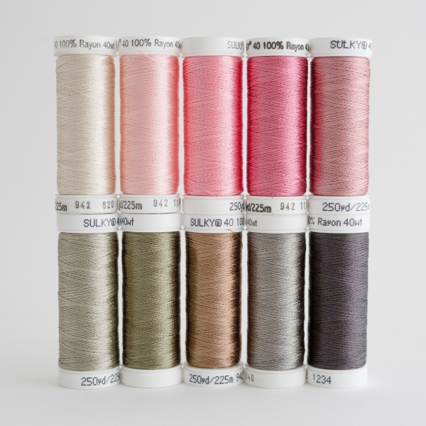 SULKY RAYON 40 - I LOVE SEWING (10 x 225m Snap Spulen)