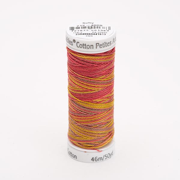 SULKY COTTON PETITES 12, 46m Snap Spulen -  Farbe 4006 Autumn multicolour