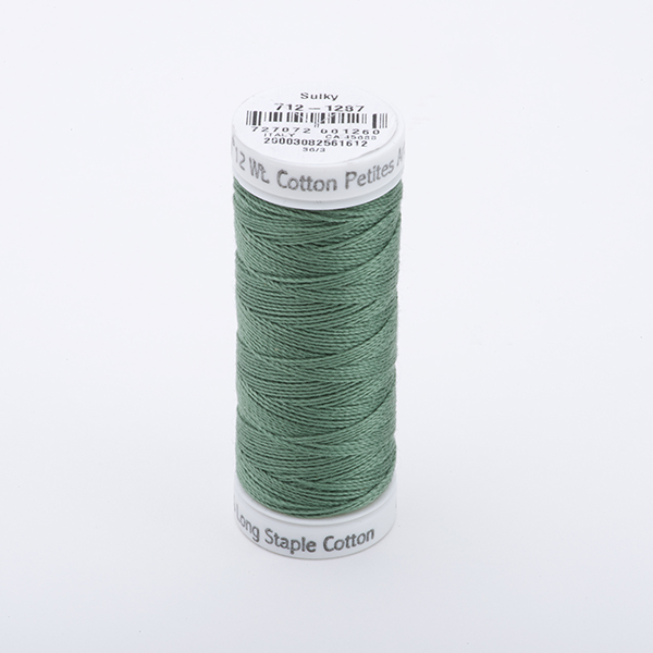 SULKY COTTON PETITES 12, 46m Snap Spulen -  Farbe 1287 French Green