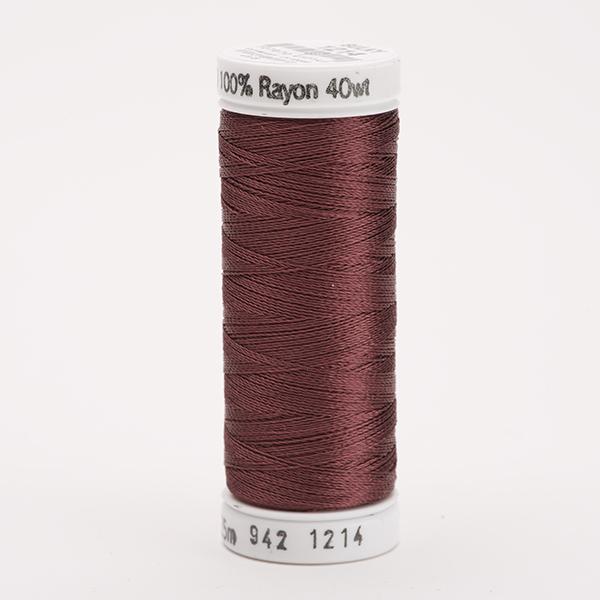 SULKY RAYON 40 farbig, 225m Snap Spulen -  Farbe 1214 Med. Chestnut