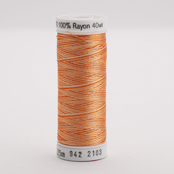SULKY RAYON 40 ombre/multicolor, 225m Snap Spulen -  Farbe 2103 Vari-Oranges