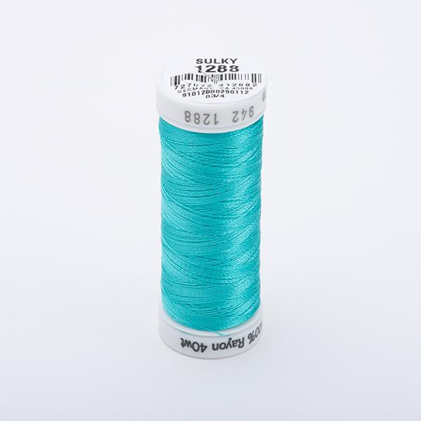 SULKY RAYON 40 farbig, 225m Snap Spulen -  Farbe 1288 Aqua