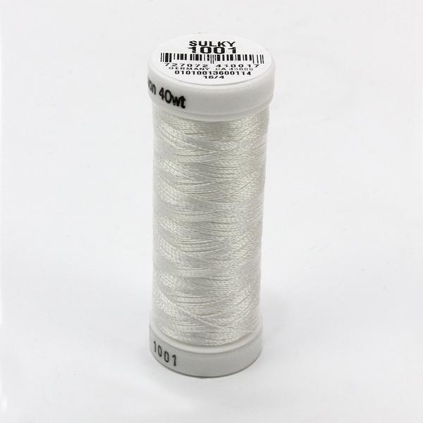 SULKY RAYON 40 weiß, 225m Snap Spulen -  Farbe 1001 Bright White
