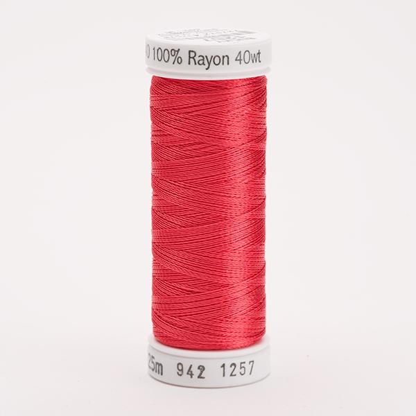 SULKY RAYON 40 farbig, 225m Snap Spulen -  Farbe 1257 Deep Coral