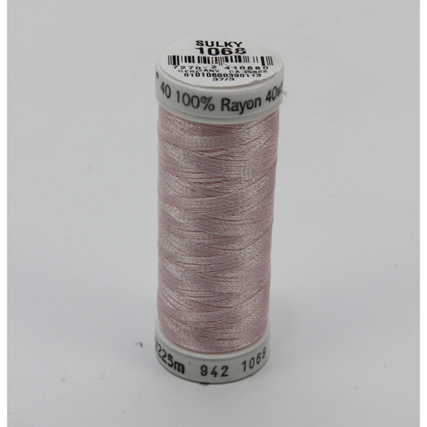 SULKY RAYON 40 farbig, 225m Snap Spulen -  Farbe 1068 Pink Tint
